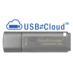 Kingston Technology DataTraveler Locker+ G3 8GB 8GB USB 3.0 (3.1 Gen 1) USB Type-A connector Silver USB flash drive