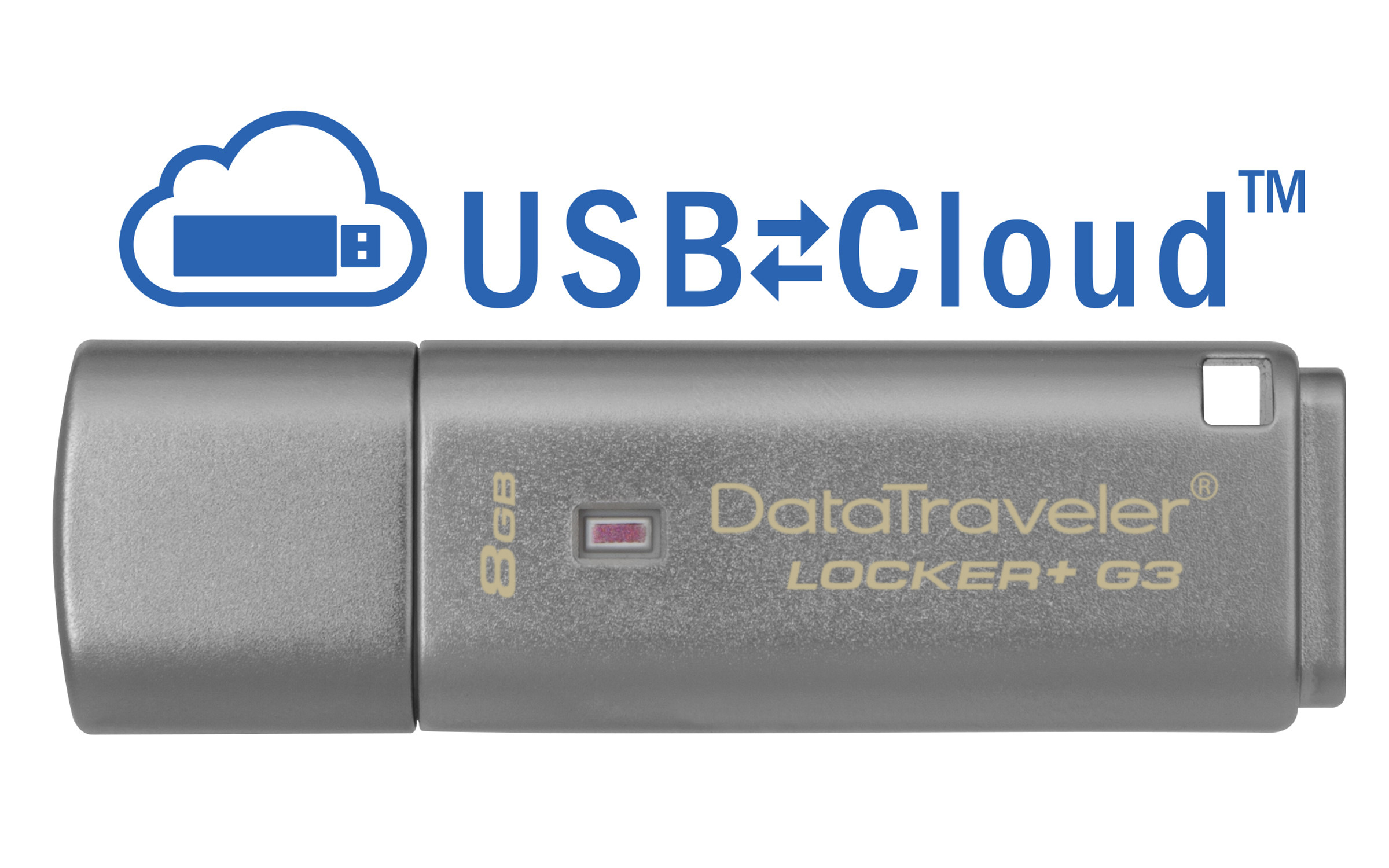 Kingston Technology DataTraveler Locker+ G3 8GB 8GB USB 3.0 Silver USB flash drive DTLPG3/8GB