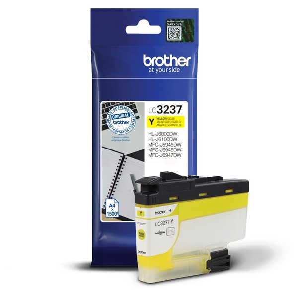 Brother LC-3237Y Ink cartridge yellow, 1.5K pages