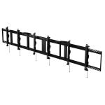 """Peerless Ceiling Mounted Menu Board 3x1 46-48 flat panel ceiling mount 48"""" Black"""
