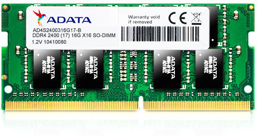 Premier Series - Ddr4 - 4 GB - So-DIMM 260-pin - 2400 MHz / Pc4-19200 - Cl17 - 1.2 V - Unbuffe
