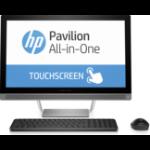 """HP Pavilion 24-b017a 2.8GHz i7-6700T 23.8"""" 1920 x 1080pixels Touchscreen Silver"""