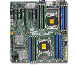 Supermicro X10DRH-C Intel C612 LGA 2011 (Socket R) Extended ATX server/workstation motherboard
