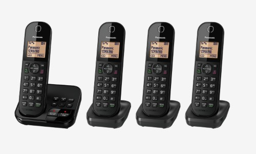 Panasonic KX-TGC424EB telephone DECT telephone Caller ID Black