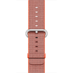 Apple 42mm Woven Nylon Band - Watch strap - 145-215 mm - anthracite, space orange - for Watch (42 mm)