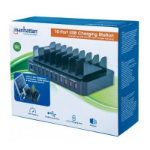 Manhattan 180009 charging station organizer Acrylonitrile butadiene styrene (ABS) Black