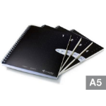 Livescribe A5 Size Notebook, 4-Pack A5 80sheets Black writing notebook