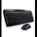 Logitech MK320 teclado RF inalámbrico Griego Negro