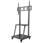"Manhattan TV & Monitor Mount, Trolley Stand, 1 screen, Screen Sizes: 37-100"", Black, VESA 200x200 to 800x600mm, Max 150kg, LFD, Lifetime Warranty"