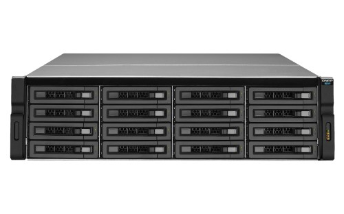 QNAP REXP-1610U-RP disk array 128 TB Rack (3U) Black,Grey