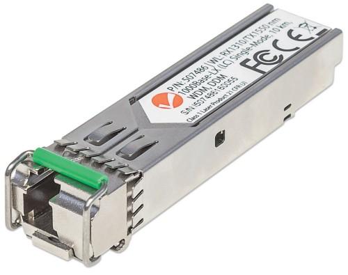 Intellinet Gigabit Fibre WDM Bi-Directional SFP Optical Transceiver Module, 1000Base-Lx (LC) Single-Mode Port, 10km, WDM (Rx1310/Tx1550)