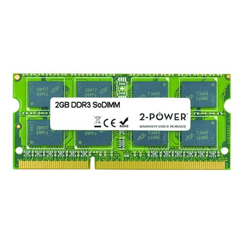 2-Power 2GB MultiSpeed 1066/1333/1600 MHz SoDIMM