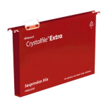 Rexel Crystalfile Extra Foolscap Suspension File 30mm Red (25)