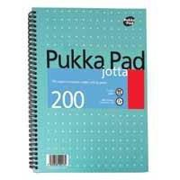 Pukka Jotta Notebook Wirebound Perforated Ruled 80gsm 200pp A5 Metallic Ref JM021 [Pack 3]