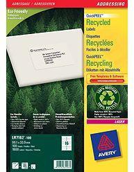 Avery QuickPEEL self-adhesive label White 1600 pc(s)