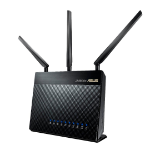 ASUS DSL-AC68U wireless router Dual-band (2.4 GHz / 5 GHz) Gigabit Ethernet Black