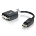 C2G 20cm DisplayPort M / DVI F Displayport M DVI-D F Black cable interface/gender adapter
