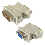 Spire DVI-I - VGA DVI VGA White cable interface/gender adapter