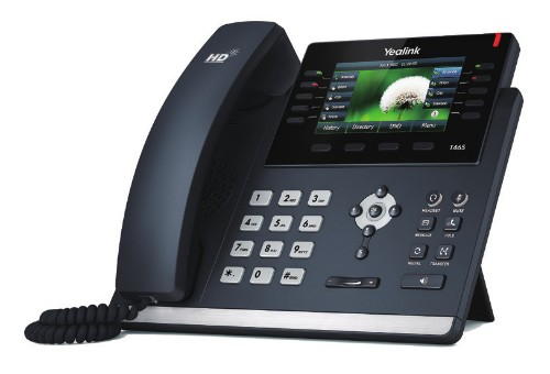 Yealink SIP-T46S IP phone Black Wired handset LCD 16 lines