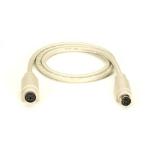 "Black Box 6-Pin Mini DIN Cable (CL2), Male/Female, 50-ft. KVM cable 598.4"" (15.2 m) Beige"