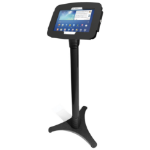 Maclocks Compulocks Galaxy Secure Space Enclosure with Adjutsable Floor Stand Kiosk Black - Stand for tablet