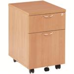 Jemini 2 Drawer Beech Mobile Pedestal KF72081
