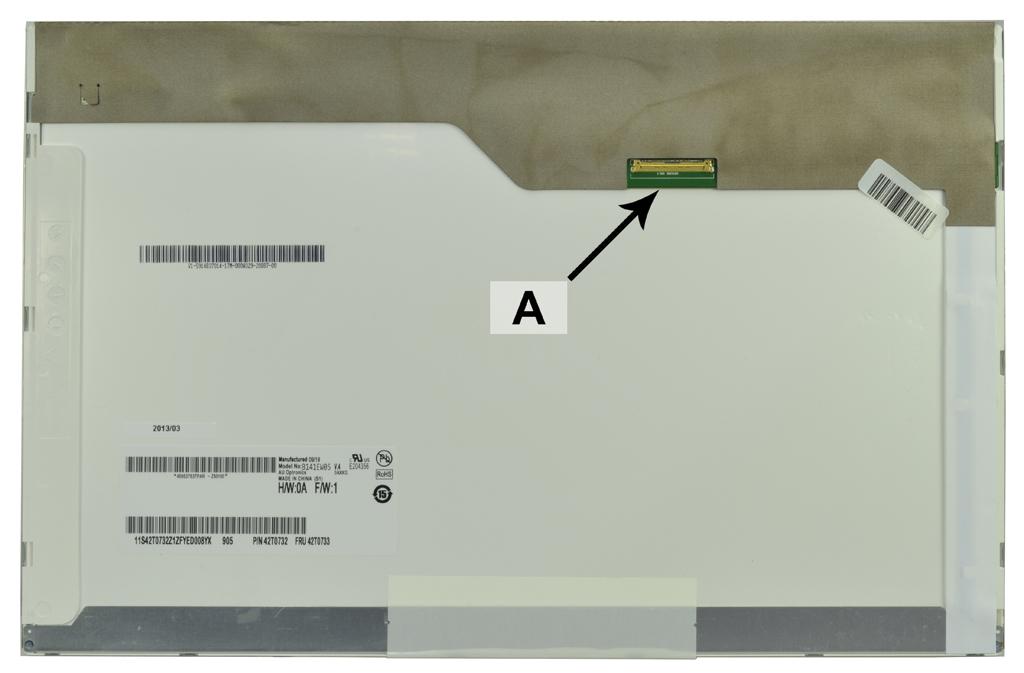 2-Power 14.1 WXGA 1280x800 LED Matte Screen - replaces 63Y3031