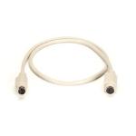 """Black Box 6-Pin Mini DIN Cable (CL2), Female/Female, 6-ft. KVM cable 70.9"""" (1.8 m) White"""