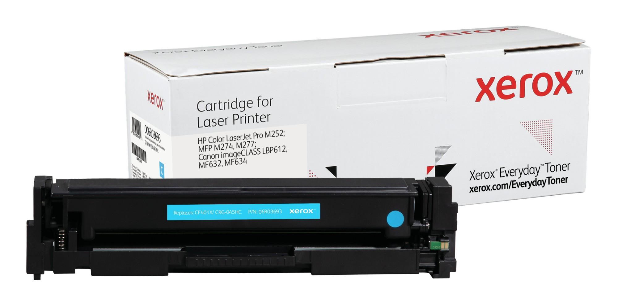 Xerox Tóner de Alto rendimiento Cian Everyday, HP CF401X/ CRG-045HC equivalente de , 2300 páginas