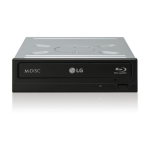 LG CH12NS40 Internal Blu-Ray DVD Combo Black optical disc drive