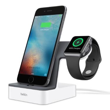 Belkin PowerHouse mobile device dock station Smartwatch/Smartphone White