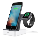 Belkin PowerHouse mobile device dock station Smartwatch/Smartphone White