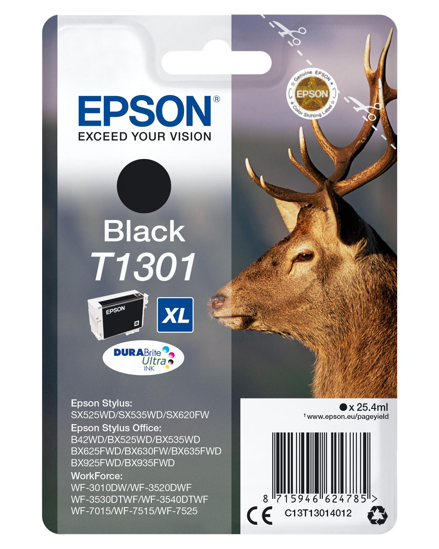 Epson Stag Cartucho T1301 negro