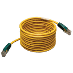 Tripp Lite Cat5e 350MHz Molded Cross-over Patch Cable (RJ45 M/M) - Yellow, 25-ft.
