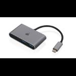 iogear GUH3C22P interface hub USB 3.0 (3.1 Gen 1) Type-C 10000 Mbit/s Black,Stainless steel