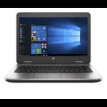 "HP ProBook 645 G3 Notebook 14"" 1366 x 768 pixels 6th Generation AMD PRO A10-Series 8 GB DDR4-SDRAM 500 GB HDD Wi-Fi 4 (802.11n) Windows 7 Professional Silver"