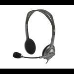 Logitech H110 Binaural Head-band Black,Silver headset