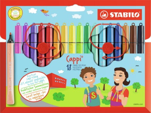 STABILO Cappi felt pen Medium Multicolour 18 pc(s)