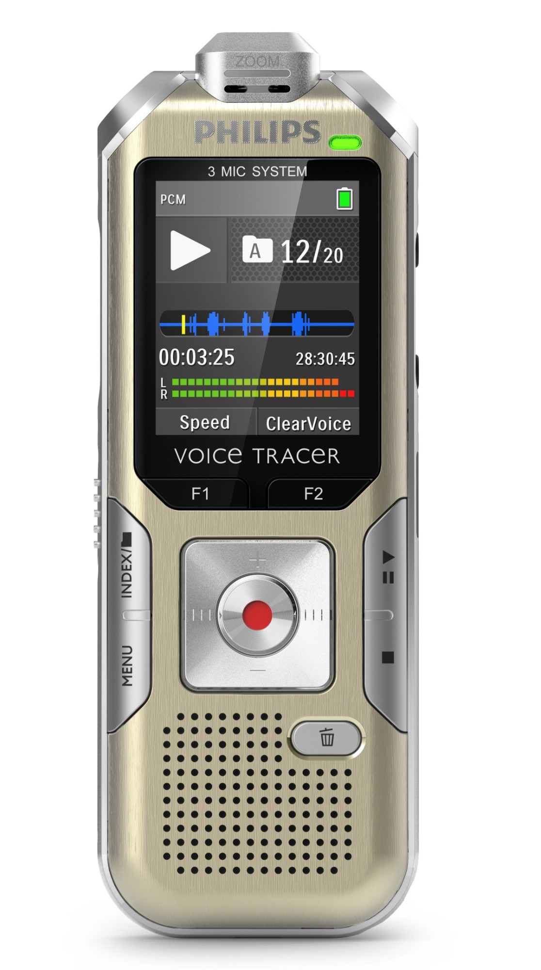 PHILIPS VOICE TRACER DVT6500 DICTAPHONE FLASH CARD SILVER