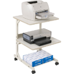 MooreCo Dual Laser Printer Stand printer cabinet/stand White