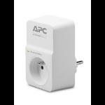 APC SurgeArrest 1 limitador de tensión 230 V Blanco