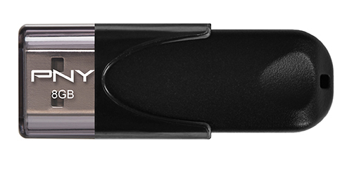 PNY Attaché 4 8GB USB 2.0 Black USB flash drive