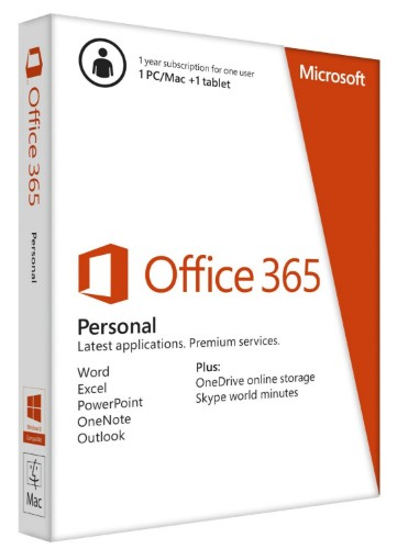 Microsoft Office 365 Personal 1 license(s) 1 year(s) French