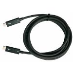 "QNAP CAB-TBT320M-40G-LINTES Thunderbolt cable 78.7"" (2 m) Black 40 Gbit/s"