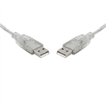 8WARE USB 2.0 Certified Cable A-A 5m Transparent Metal Sheath UL Approved