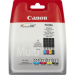 Canon 6509B009 (CLI-551) Ink cartridge multi pack, 4x7ml, Pack qty 4