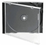 Fellowes 9833801 Jewel case 1 discs Black, Transparent
