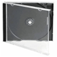Fellowes 9833801 optical disc case Jewel case 1 discs Black,Transparent