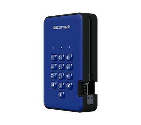 iStorage diskAshur 2 external hard drive 3000 GB Blue
