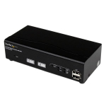 StarTech.com 2 Port USB DVI KVM Switch with DDM Fast Switching Technology and Cables